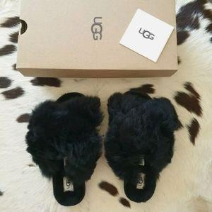 Authentic UGG Fuzzalicious Sheepskin Shearling Soft Fur Fluffy Slippers AU 5